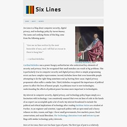 About, sixlines.org