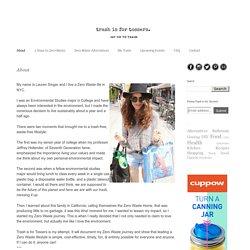 Une blogueuse new yorkaise qui dit non aux déchets !