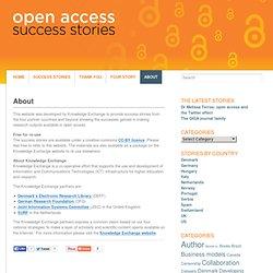About « Open Access Success Stories