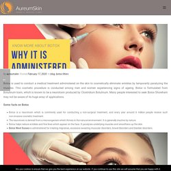 Know More About Botox and Why It is Administered