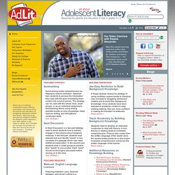 All About Adolescent Literacy | AdLit.org