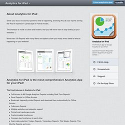 About Analytics for iPad - Analytics for iPad