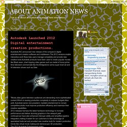 ABOUT ANIMATION NEWS