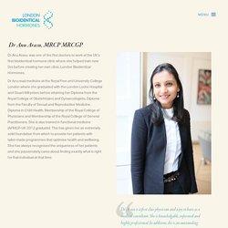 About Dr Anu Arasu - Hormone Specialist