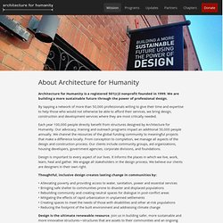 About Architecture for Humanity