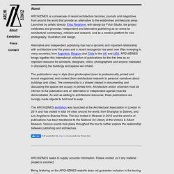 Archizines - liste de revues alternatives