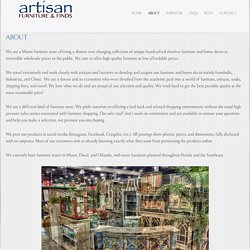 Artisan Furniture & Finds