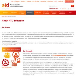 About ATD Education