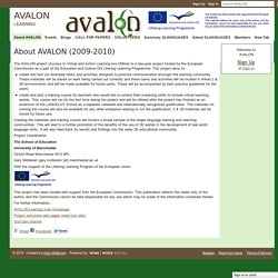 About AVALON (2009-2010) - AVALON