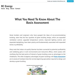 What You Need To Know About The Basix Assessment – RC Energy