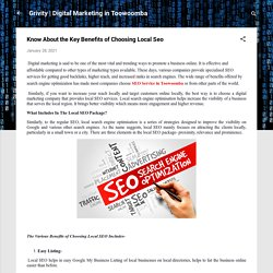 Know About the Key Benefits of Choosing Local SEO