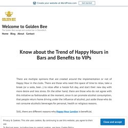 Know about the Trend of Happy Hours in Bars and Benefits to VIPs