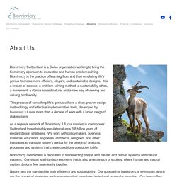 About Us — Biomimicry Switzerland