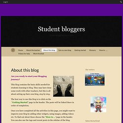 About this blogStudent bloggers