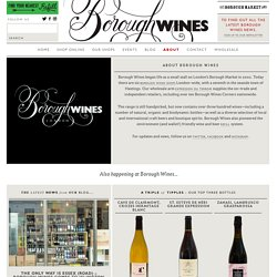 About Borough Wines - Borough Wines