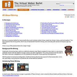 All About Brining - The Virtual Weber Bullet