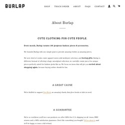 About Burlap – Burlap Apparel