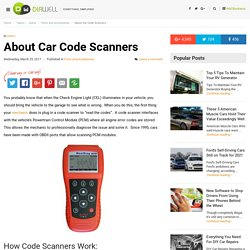 About Car Code Scanners