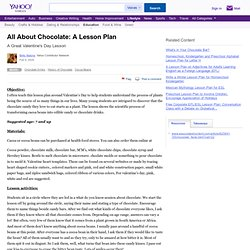 All About Chocolate: A Lesson Plan