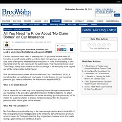 "All You Need To Know About ""No Claim Bonus"" on Car Insurance"