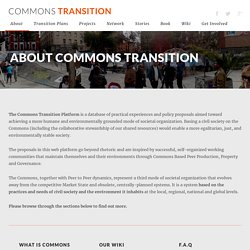 About Commons Transition
