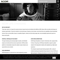 About the company - XCOR - Life-changing