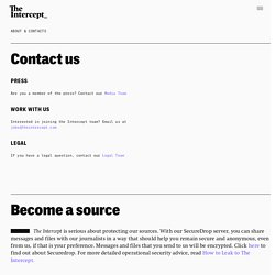 About & Contacts – The Intercept