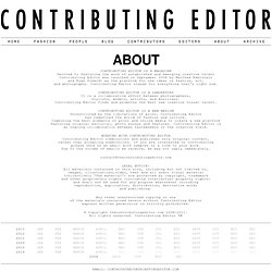 ABOUT » Contributing Editor