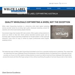 ABOUT WHITE LABEL COPYWRITING AUSTRALIA - White Label Copywriting Australia