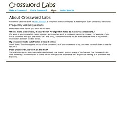 About Crossword Labs
