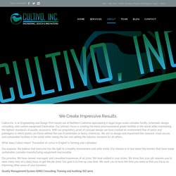 ABOUT – Cultivo Inc.