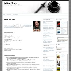 about me (cv) - LeRon Shults