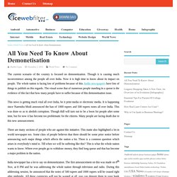 All You Need To Know About Demonetisation - Ice Web Filter