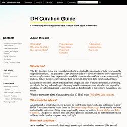 CIRSS Digital Humanities Data Curation