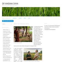 About Dr Vandana Shiva