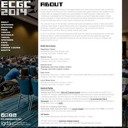 About » ECGC - East Coast Game Conference