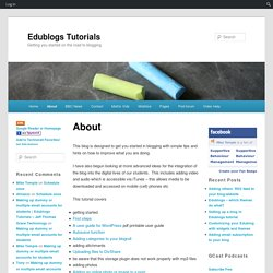 Edublogs Tutorials