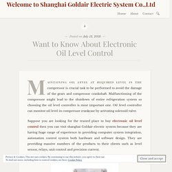 Want to Know About Electronic Oil Level Control