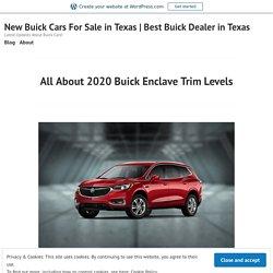 2020 Buick Enclave Trim Levels