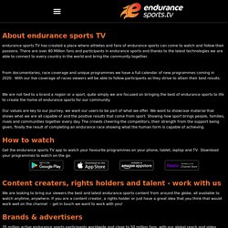 About – Endurance Sports TV