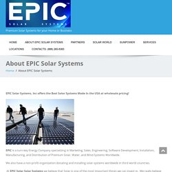 About EPIC Solar Systems