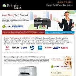 Know About Espon WF-8090 inkjet printer-800-760-5113