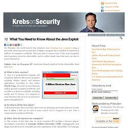What You Need to Know About the Java Exploit