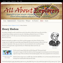 All About Explorers | Henry Hudson