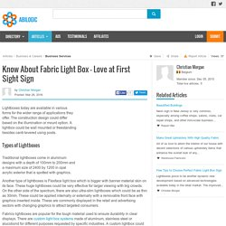 Know About Fabric Light Box - Love at First Sight Sign