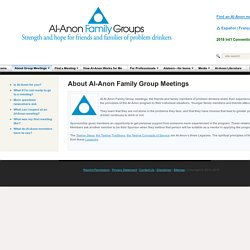 About Al-Anon Family Group Meetings