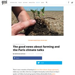 The good news about farming and the Paris climate talks