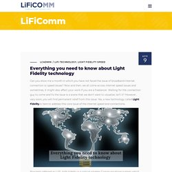 All About LIFI - Light Fidelity Technology & Speed