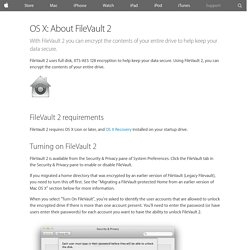OS X: About FileVault 2 - Apple Support