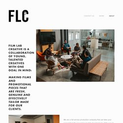 About — Film Lab Creative